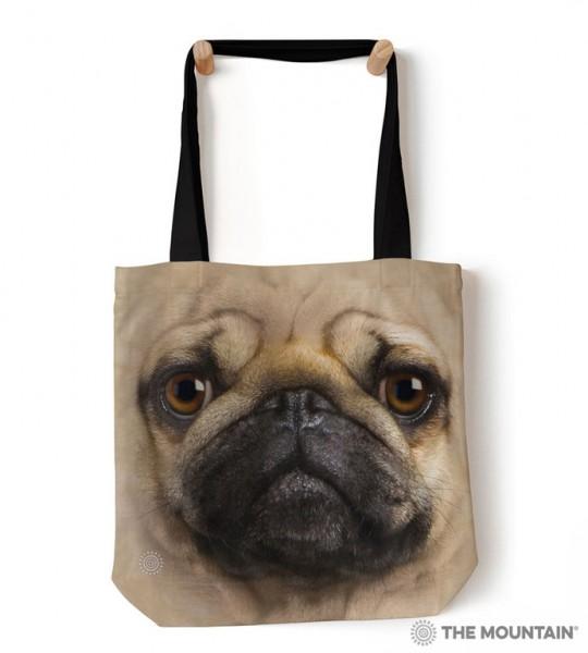Tote Bag Pug Face