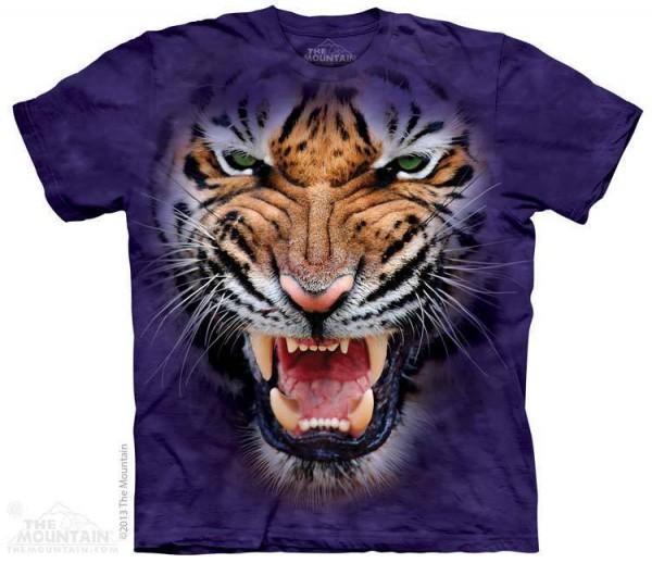Big Face Growling Tiger