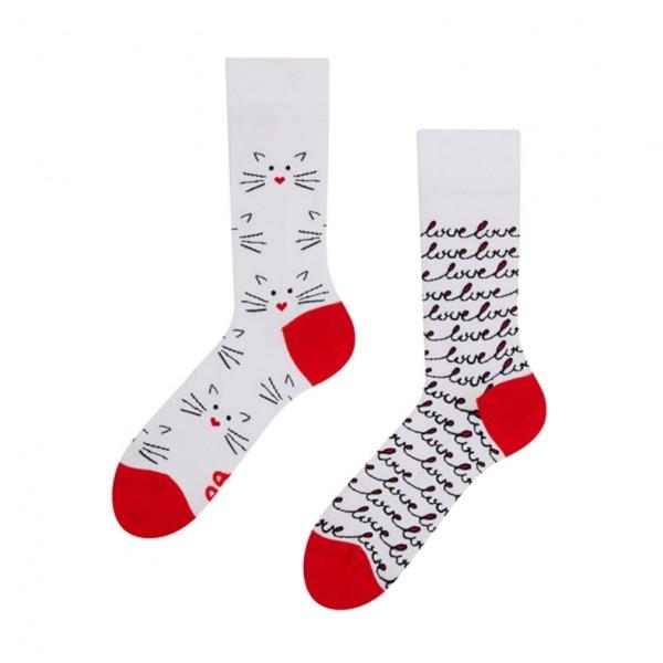 Good Mood Cat Love Unisex Adult Pet Socks