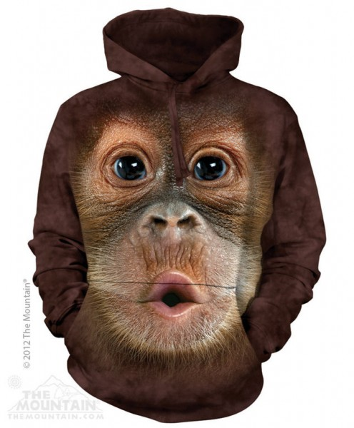 The Mountain Hoodie Big Face Baby Orangutan The Coloured