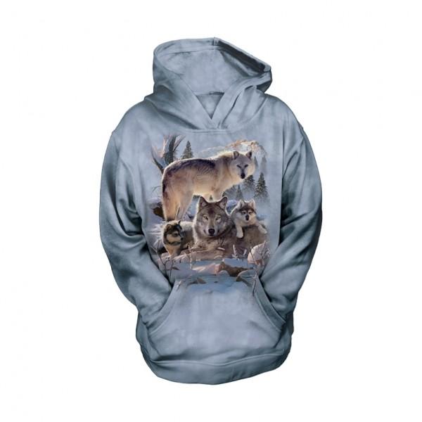 Wolf Family Mountain KIDS Hoodie