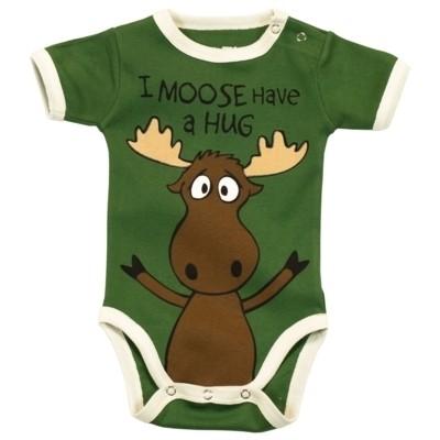LazyOne Boys Mooody Babygrow Vest