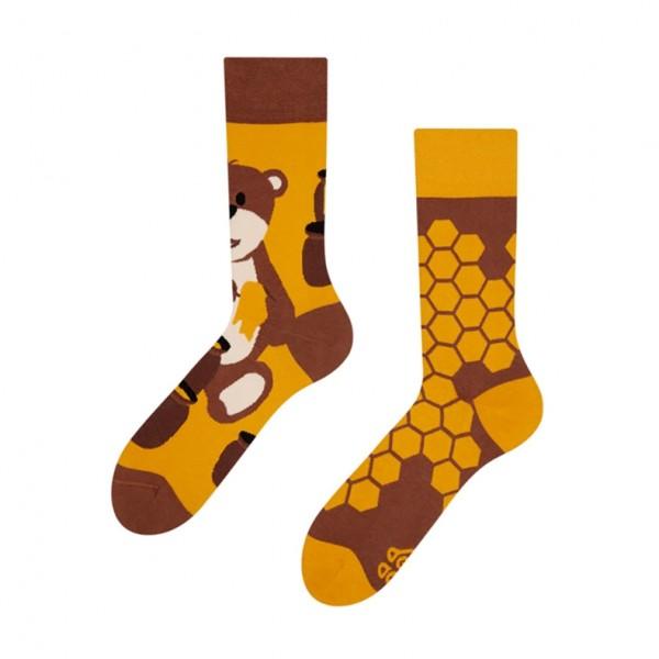 Good Mood Honey Bear Unisex Adult Animal Socks