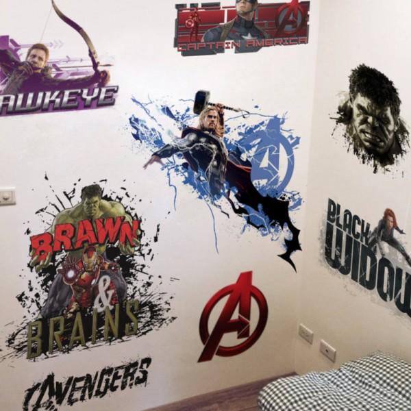 Marvel's Avengers Muursticker (set of 3)