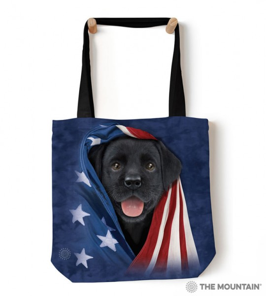 Tas Patriotic Black Lab Pup