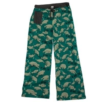 Lazy One Adult Unisex PJ Pajama Pants Moose Moosletoe Size Large New