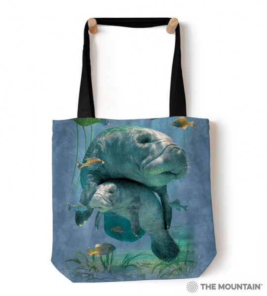 Tote Bag Manatees Collage