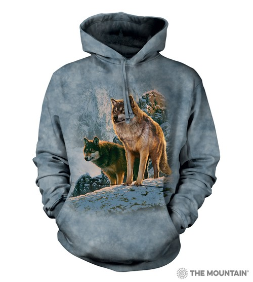Wolf Couple Sunset Hoodie