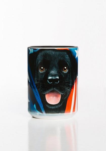 Mok Patriotic Black Lab Pup