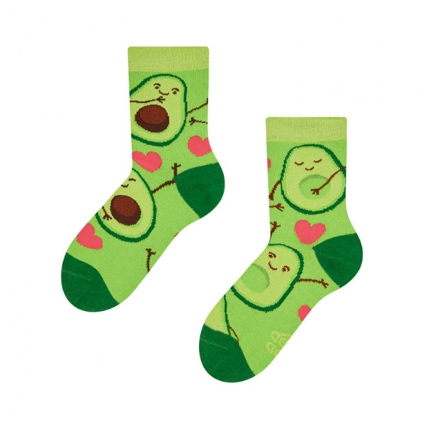 Good Mood Avocado Love Unisex Kids Food Socks