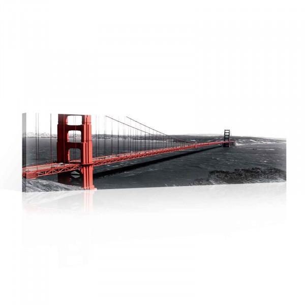 Golden Gate Bridge Canvas Print 145cm x 45cm