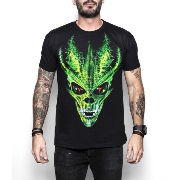 Cool Skullz Unisex Adult Alien Skull Sci-Fi Fantasy T Shirt