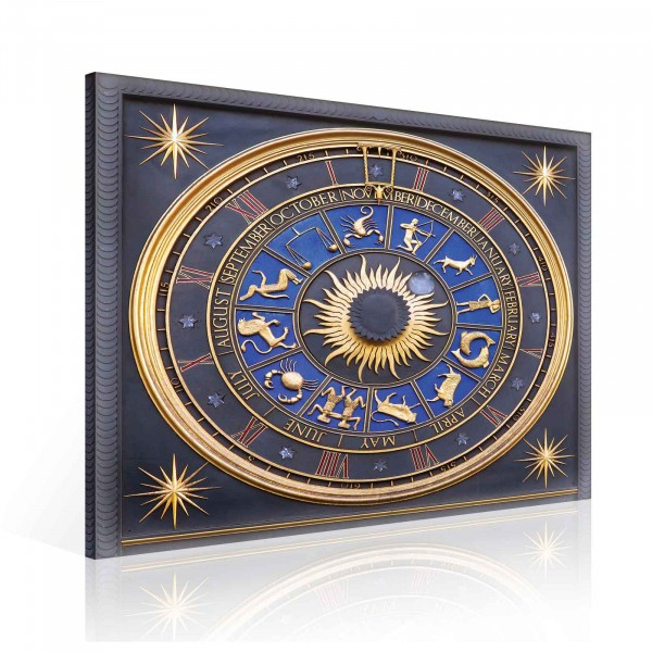 Astronomical Clock Bracken House Canvas Print 80cm x 80cm