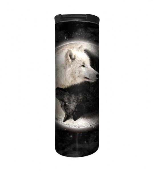 Yin Yang Wolves Tumbler