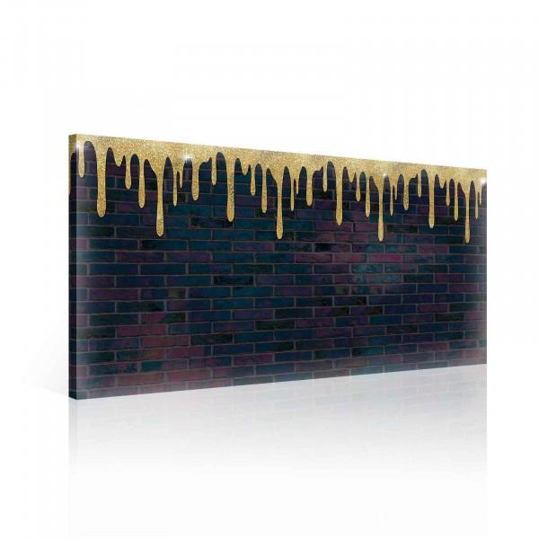 Gold Paint Bricks Canvas Print 60cm x 40cm