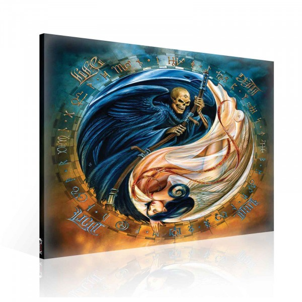 Ying Yang Angel Evil Canvas Print 80cm x 80cm