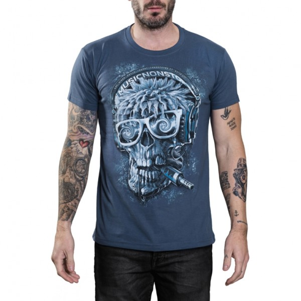 Cool Skullz Unisex Adult Hardcore DJ Skull Fantasy T Shirt