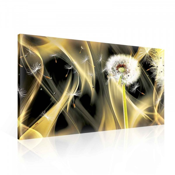 Flower Dandelion Fire Canvas Print 100cm x 75cm