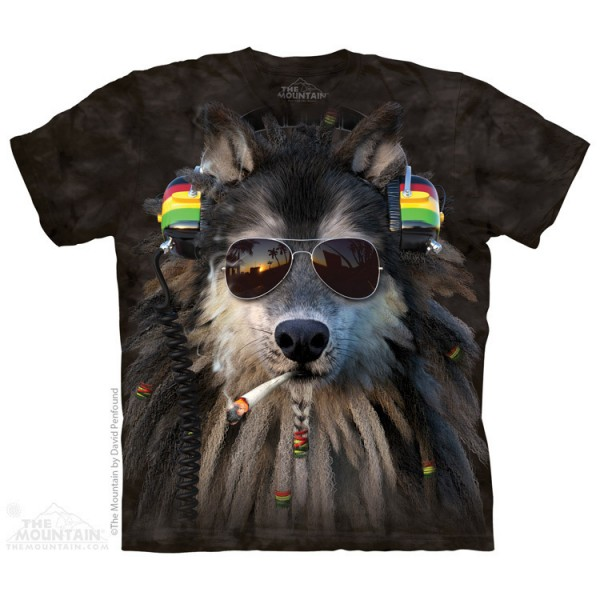 Smoking Rasta Wolf