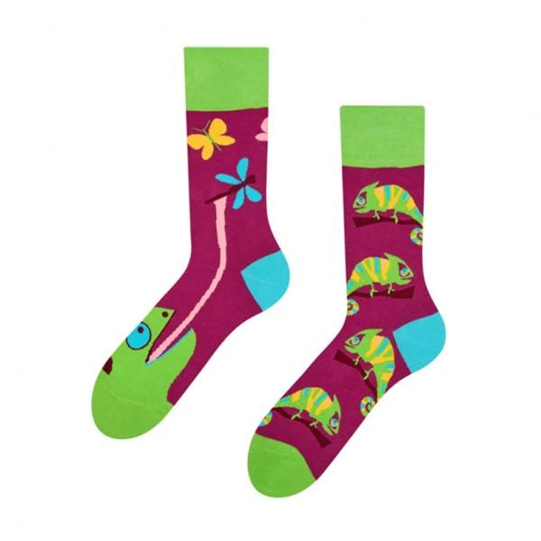 Good Mood Chameleon Unisex Adult Reptile Socks