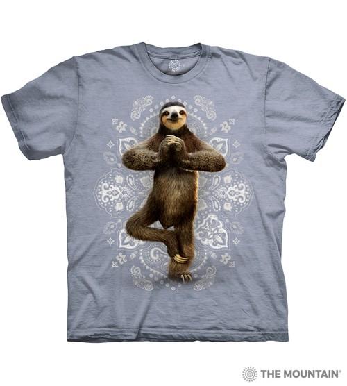 Namaste Sloth Grey