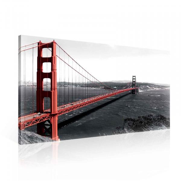 Golden Gate Bridge Canvas Print 100cm x 75cm
