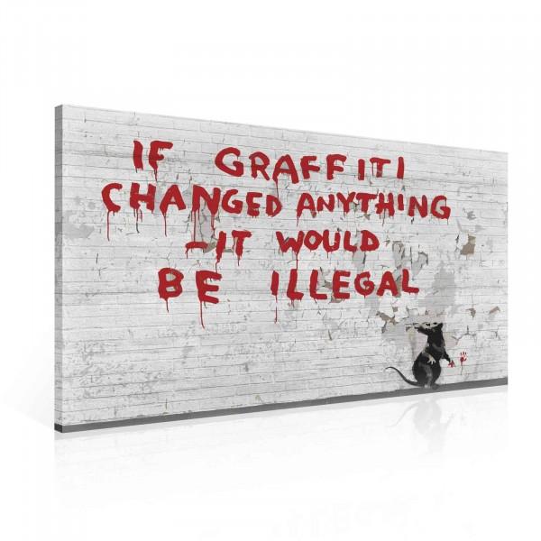 Banksy Graffiti London Canvas Print 100cm x 75cm