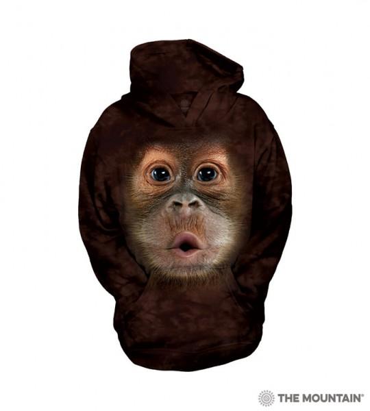 Big Face Baby Orangutan KIDS Hoodie