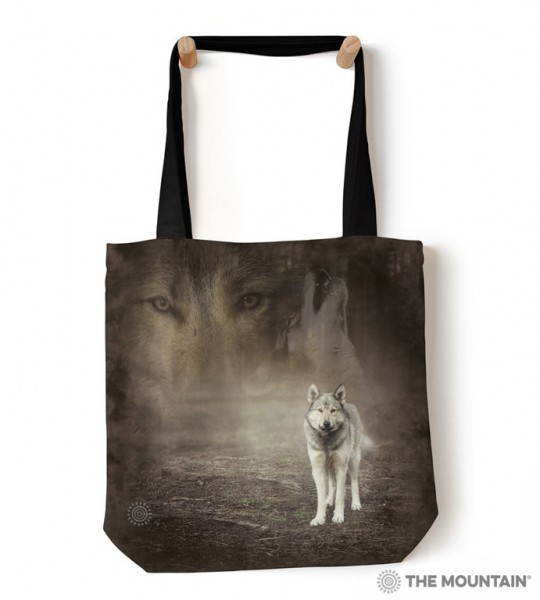 Tote Bag Grey Wolf Portrait