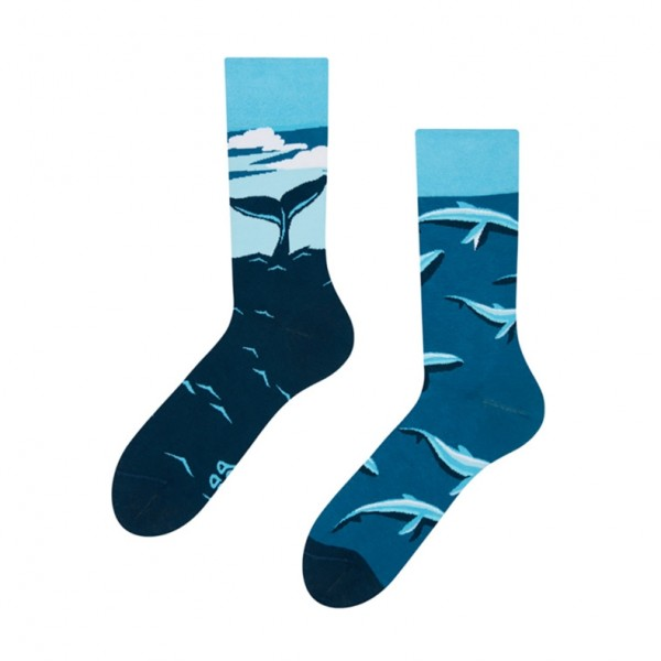 Good Mood Whale Unisex Adult Aquatic Animal Socks