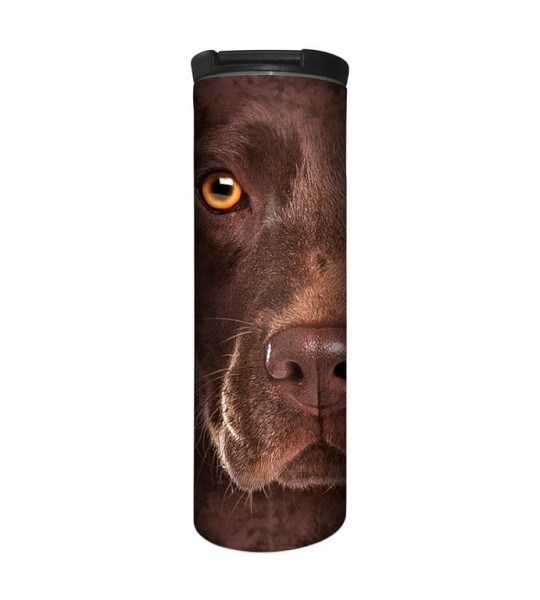 Chocolate Lab Face Tumbler