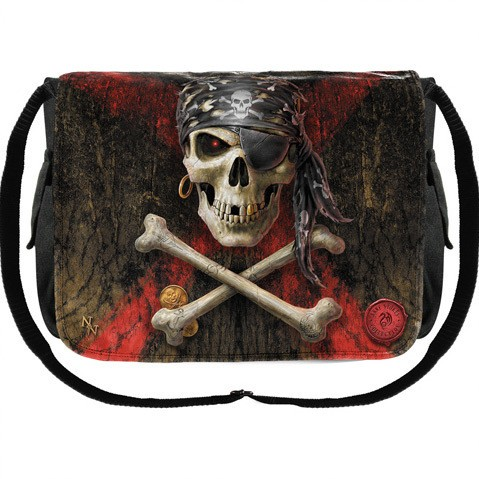 Pirate Skull Messenger Bag