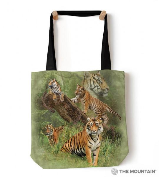 Tote Bag Wild Tiger Collage