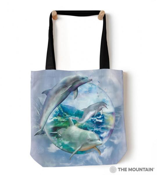 Tote Bag Dolphin Bubble