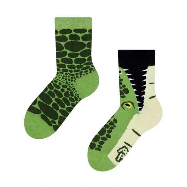 Good Mood Crocodile Unisex Kids Reptile Socks