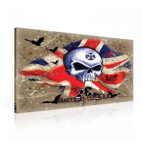 Alchemy England Skull Canvas Print 100cm x 75cm