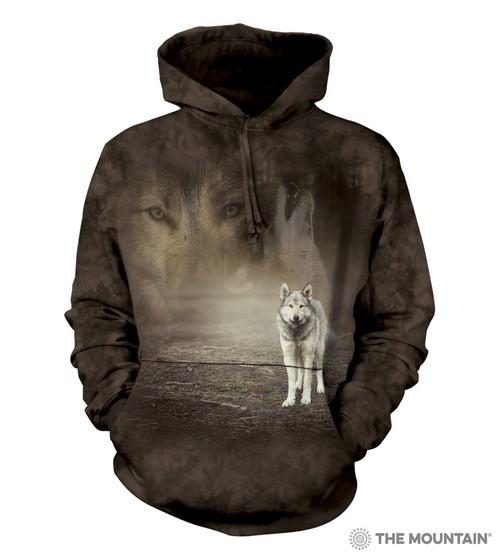 Grey Wolf Portrait Hoodie