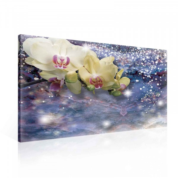 Orchids Yellow Canvas Print 100cm x 75cm