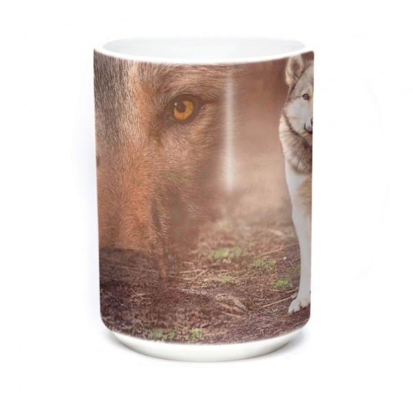 Mug Grey Wolf Portrait
