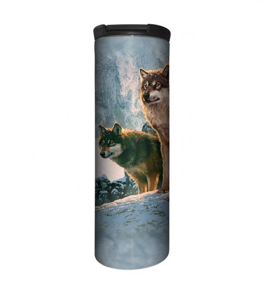 Wolf Couple Sunset Tumbler