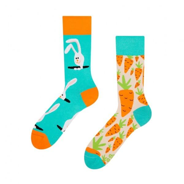 Good Mood Carrot Rabbit Unisex Animal Socks