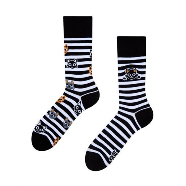 Good Mood Cats & Stripes Unisex Adult Pet Socks