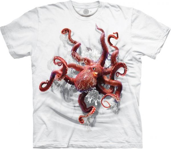 Octopus Climb Art on White