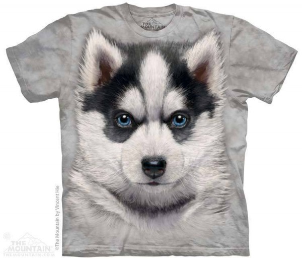 the mountain kids t-shirt siberian husky puppy - the coloured house