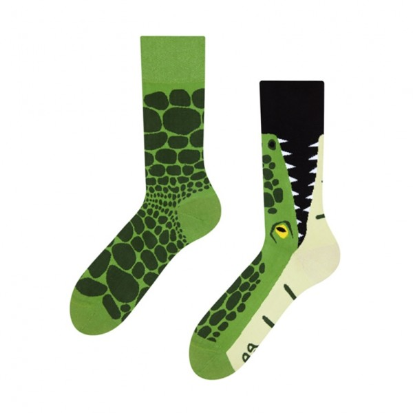 Good Mood Crocodile Unisex Adult Reptile Socks