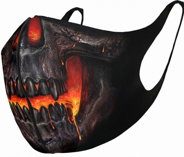 Skull Lava Face Mask