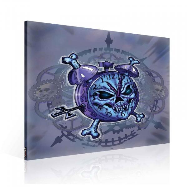 Evil Alarm Clock Canvas Print 80cm x 80cm
