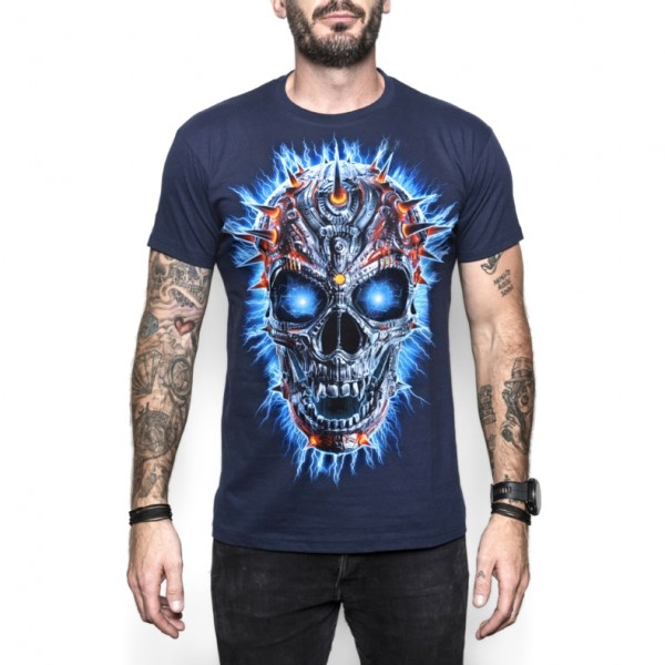 Cool Skullz Unisex Adult Terminator Skull Fantasy T Shirt