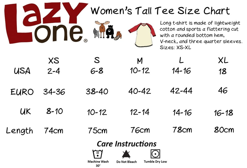2109c1ac LazyOne Unisex Bear Fair Isle PJ Tall Tshirt | The Coloured House
