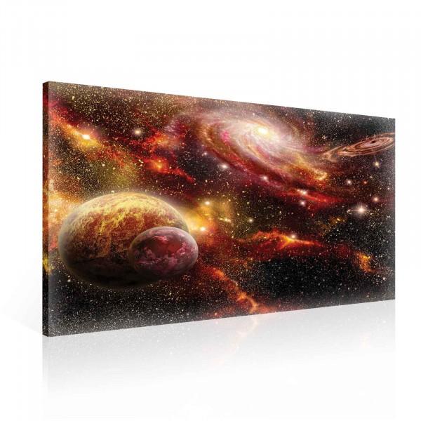 Planets Cosmos Space Canvas Print 100cm x 75cm
